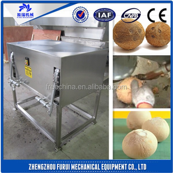 factory direct supply coconut dehusking machine/coconut dehusker/coconut peeling machine