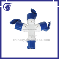 Multi function industrial plug and socket IP44 IP67