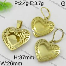 2016 Chinese market stainless steel material gold filled jewelry set