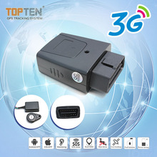 4g GPS Tracker Plug Play 16 Pin OBD GPS for car ODB OBD2 Tracker from guangzhou topten electronics factory