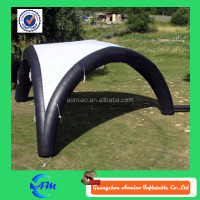 Simple white and black inflatable air tent, clear inflatable lawn tent with three legs