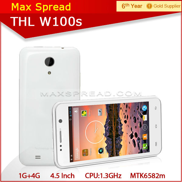 In Stock! THL W100 MTK6589 quad core 4.5 inches mobile phone