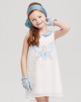 Latest design girls stylish white sleeveless frocks for 12 years girls for sale