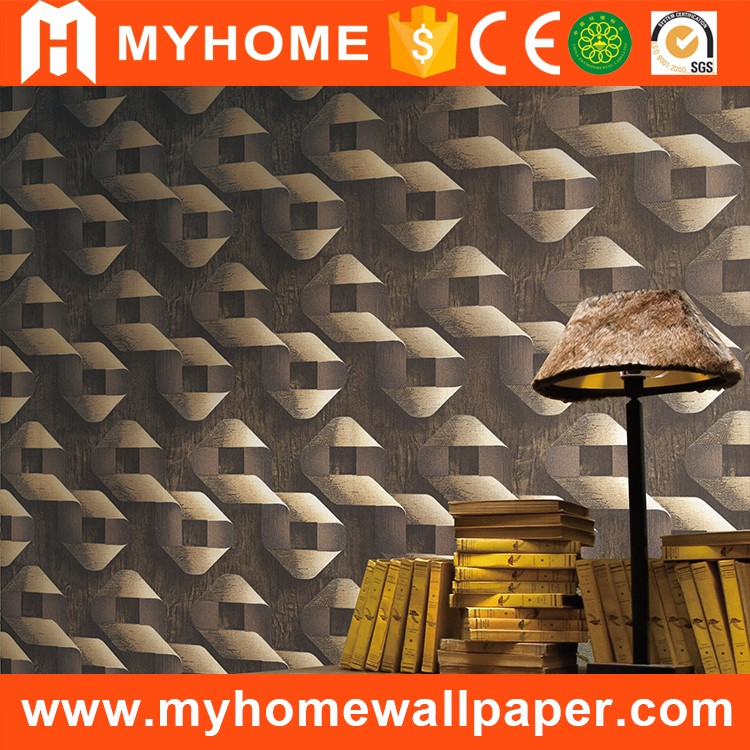 Stereoscopic modern water resistant wallpaper