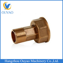 2014 China New Product Factory direct Copper Fitting Plumbing Brass Gas Meter Connector Tightness