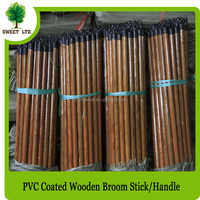 Less Than One Dollar Hot Sale PVC Wooden Broom Stick