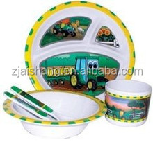 European Fashionable First Rate High Quality food grade kids dinnerware sets Bpa free