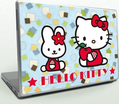 cute hello kitty skin 3m sticker full cover for laptop hp dell