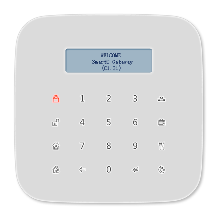 Gingerway home automation SmartC gateway with GSM smart home alarm system