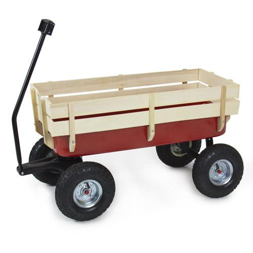 Outdoor Trailer wagon Baby hand trolley Wood wagon for Kids