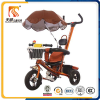 China umbrella tricycle cheap kids children tricycle with sunshade