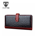 2016 Popular slim crocodile leather men wallet OEM genuine handmade leather wallet for men
