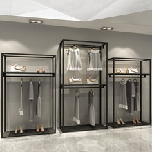 XINJI High End Boutique Garment Display Rack Fashion Simple Clothing Store Racks And <strong>Shelves</strong>