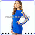 Latest High Fashion Sleeve cut out women designer Mini club dress shkA5