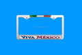 Plastic chrome license plate frames