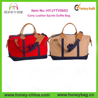 Big Capacity Monogram Nylon Carry Designer Leather Sports Duffle Bag