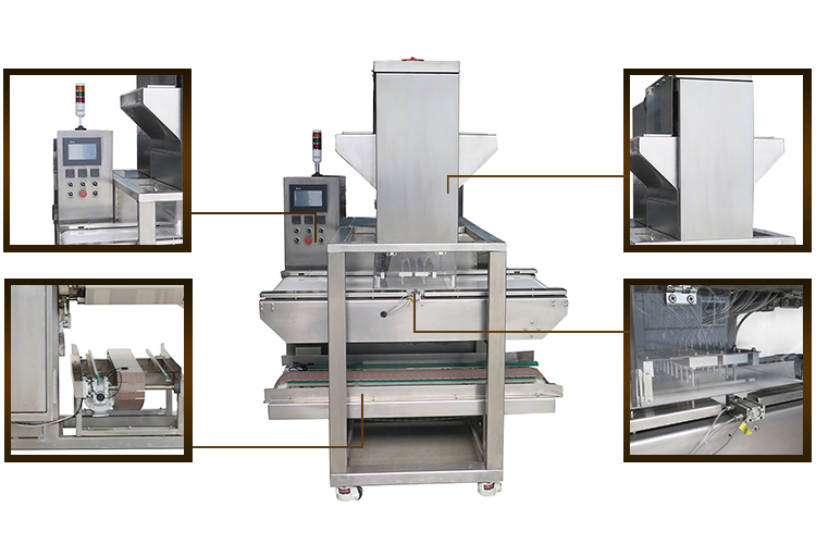 Commercial One Shot Technology Chocolate Dipping Machinery