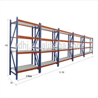 heavy duty warehouse reinforced steel goods racking / high quality metallic adjustable shelving