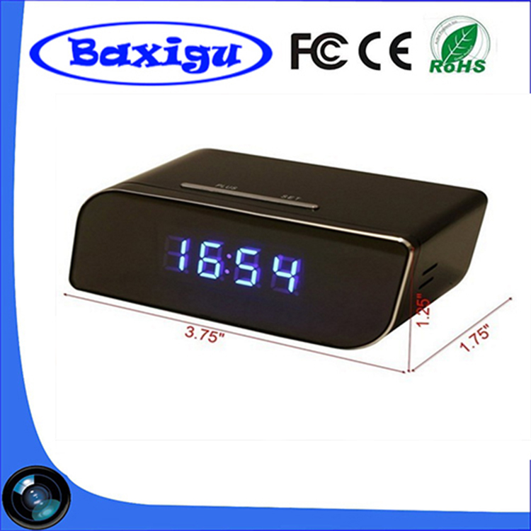 Cheapest Top Sell WiFI Clock Camera 1280X720P Table Clock Camera with Night Vision Pinhole Spy Hidden WiFi IP Camera Clock