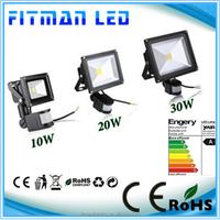 LED Flood light 10W 20W 30W 50W 110v-240v PIR Motion sensor Induction detective projector front Outdoor lamp