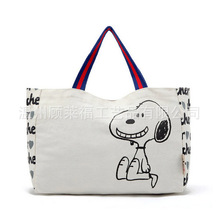 Eco-friendly dog pattern canvas boutigue shopping bag