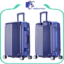 Wholesale abs/pc luxury luggage travel trolley