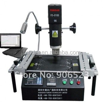 free shipping to middle east FD-5100 hot air soldering reballing station with IR preheating BGA reballing rework station