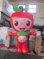 2015 new advertising giant inflatable cartoon apple