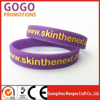 cheapest silicone bracelet as giveaway or promotional goods, cheap advertising colorfull printing silicone bracelet wrist band