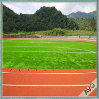 2016 Green Color Natural Looking Football Pitch Artificial Grass For Canada