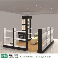 beautiful MDF shoes display shelves for high heels shoe shop design