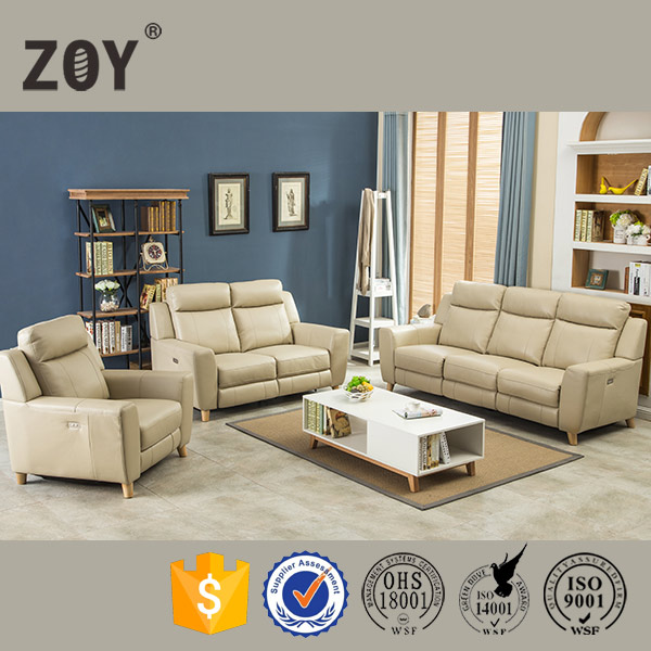 Scandinavian style best home furniture power motion recliner sofa ZOY 7027A