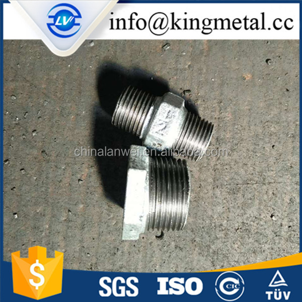 Hot dipped galvanized malleable iron pipe fittings hexagonal nipples