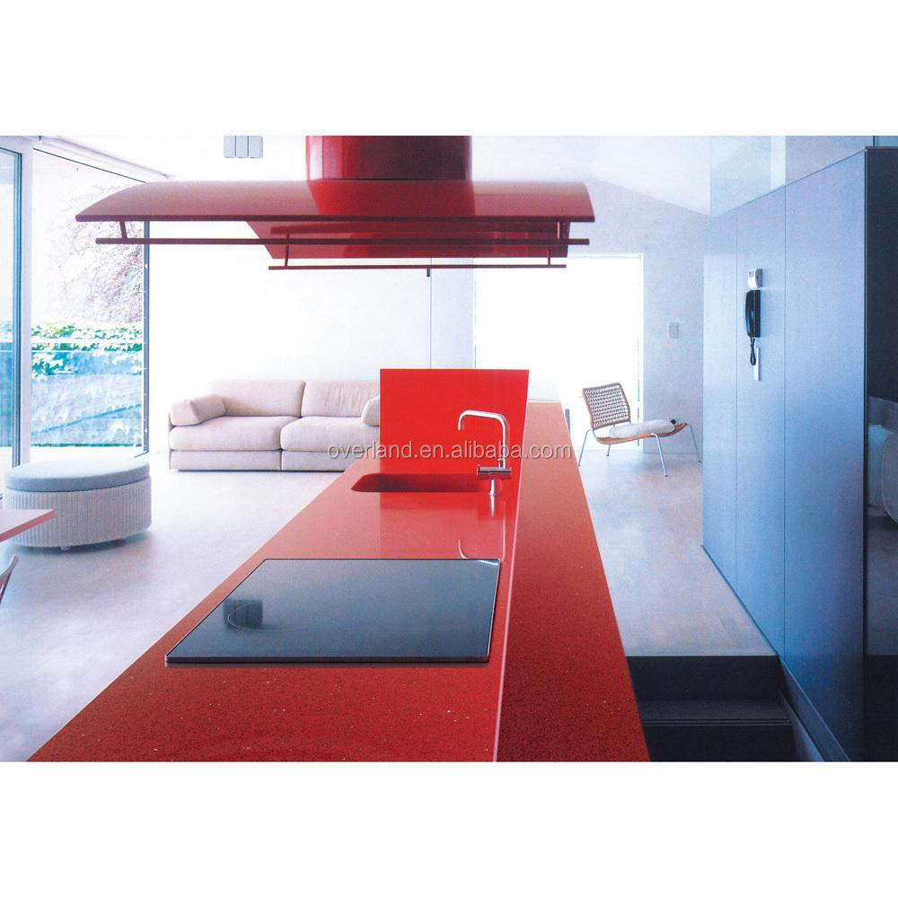 Red Quartz Kitchen Countertop: Sparkle Red Quartz Stone Countertop