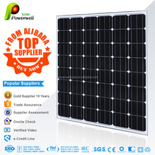 Powerwell Solar electric product mono 130w solar panels with high efficiency