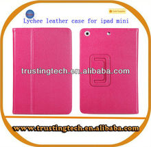 Lychee pattern with stand cover lychee flip General Leather Case for 7 inch Tablet PC