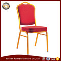 foshan wholesale cheap golden frame hotel restaurant iron steel metal aluminum stackable crown wedding banquet chair