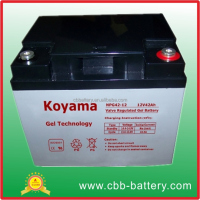 Solar Rechargeable Gel Battery 12V 42Ah