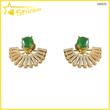 brazil gold plated cz earrings fashion jewellery