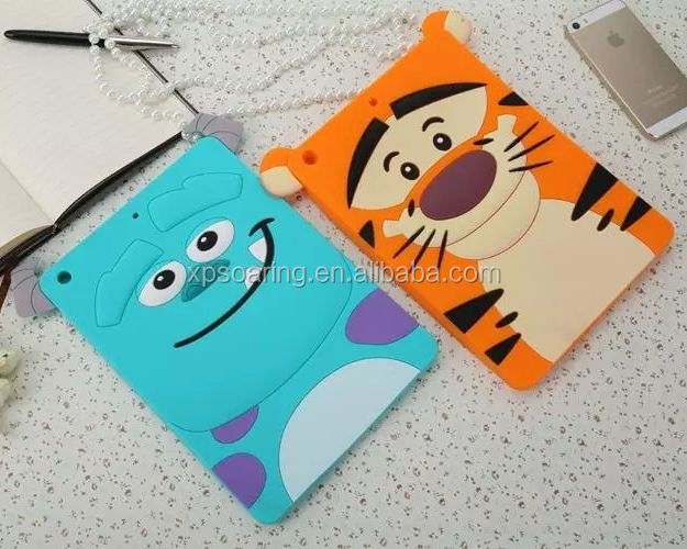 New Design Carton silicone case skin cover for ipad air