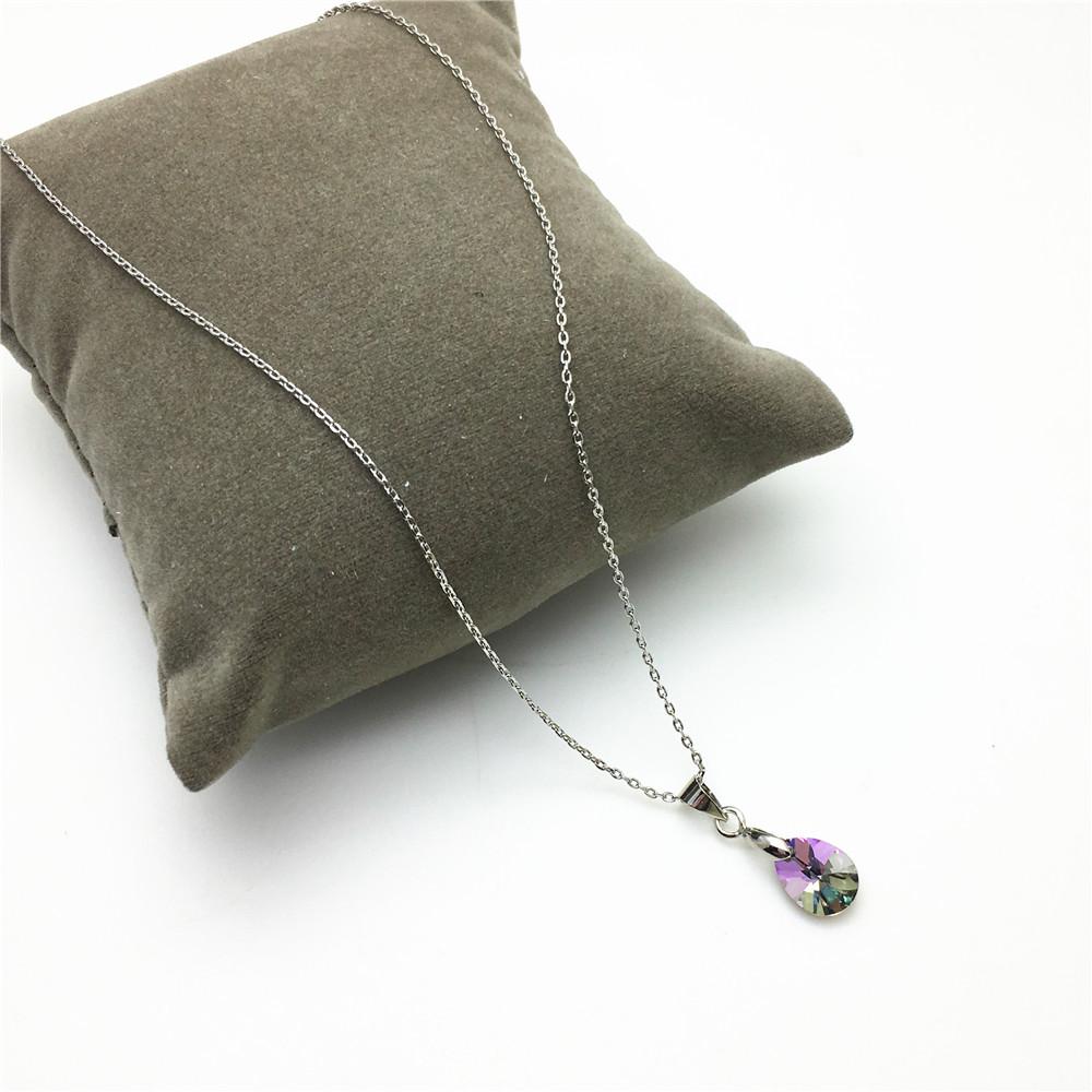 swarovski pearshaped pendant necklace for women04