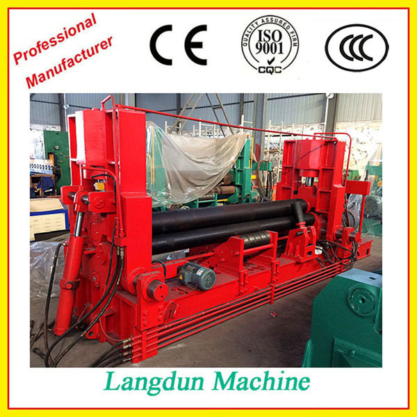 High quality <strong>W11S</strong> CNC hydraulic 3 rolls rolling Machine with good quality