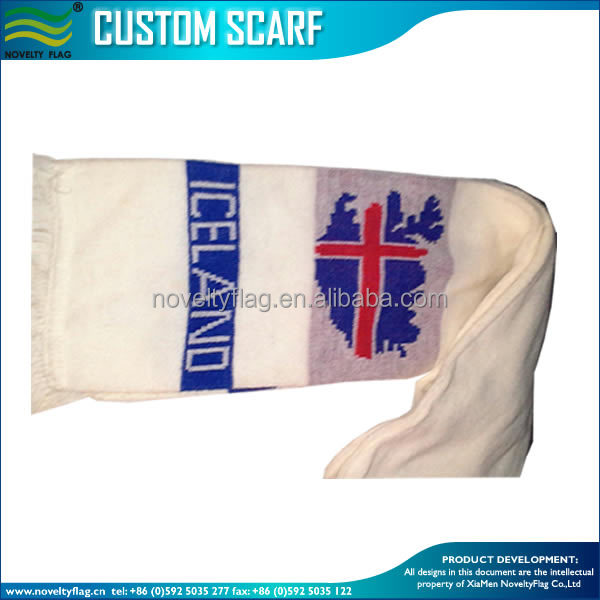 EURO CUP 2016 knitted Iceland football fan scarf