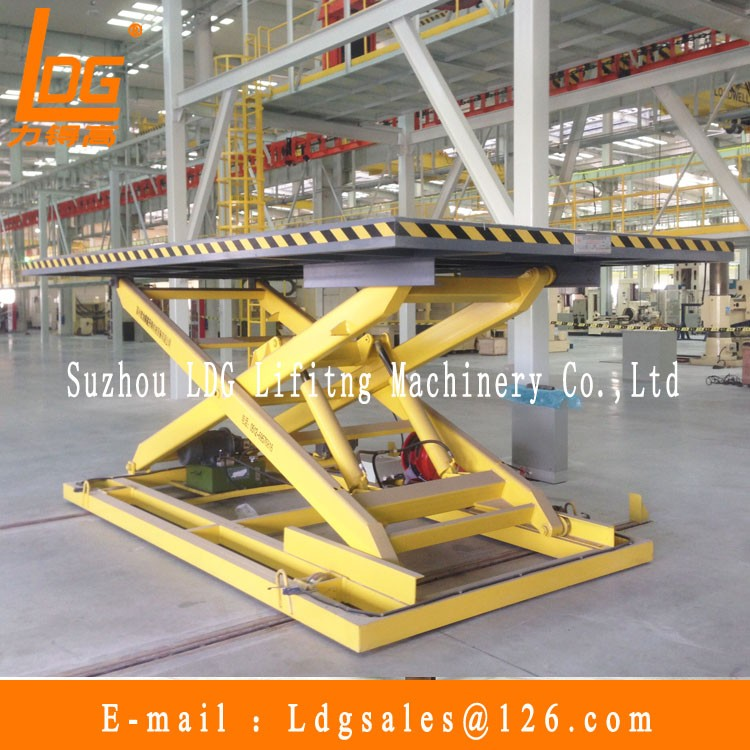 5 ton hydraulic electric scissor lift used with SJG 5-1.5