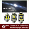 12V Automotive LED Reading lamp Dome Light Super Bright Festoon 42mm C10W Error FREE CANBUS car accessories interior lighing