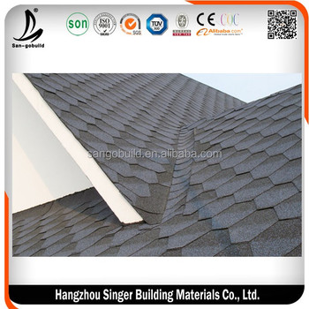 Hot sale 3 tab asphalt shingle tiles cheap roof building for What is the cheapest building material
