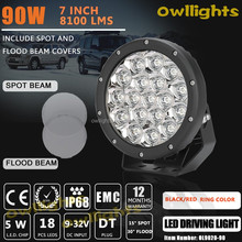 new car accessories 90w led driving lights led headlight fog light 7 inch round 90w led driving light for 4x4car jeep atv hummer