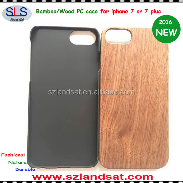 2016 New and natural wood bamboo case for iphone 7 and PC wood case for iphone 7 IPC368