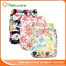 2017 Printed Animal Patterns Natucare Baby Pocket Cloth Diaper Wholesale Newborn Diapers