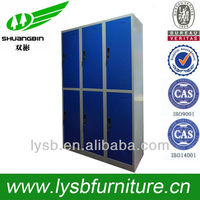 2013 new design high quality 6 door strong wood cabinet slim bathroom cabinets